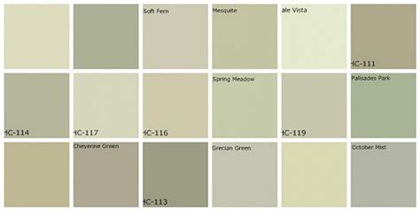 benjamin moore most popular greens gray green paint designers favorite colors top row