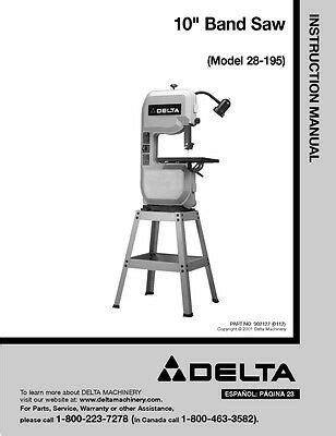 Delta 34 670 10 Amp Table Saw Instruction Manual 16 99