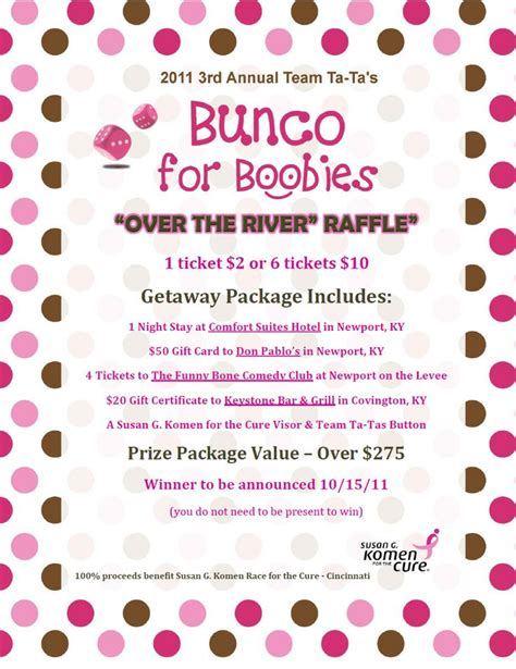 bunco themes bunco themes bunco ideas and bunco party bunco themes donors for bunco boobies our prizes are