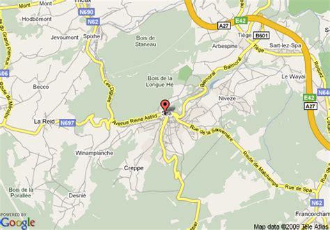 spa belgium map map of best western hotel restaurant l auberge spa