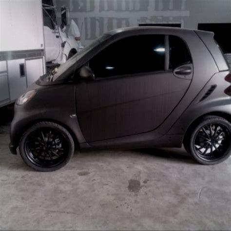 smart car back murdered out smart car matte black matte black cars