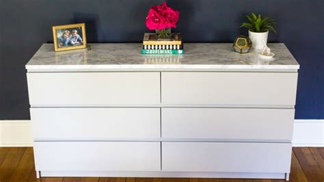 ikea makeover how to makeover your ikea malm dresser with a marble top