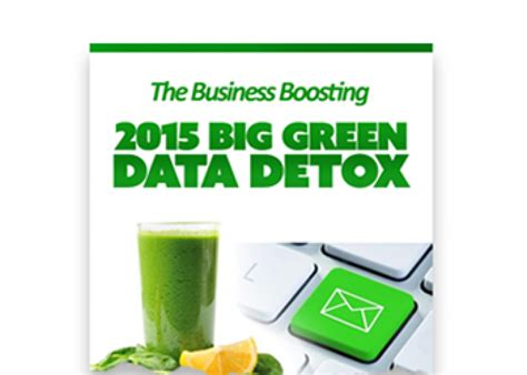 Data Detox by 2015 Big Green Data Detox Email