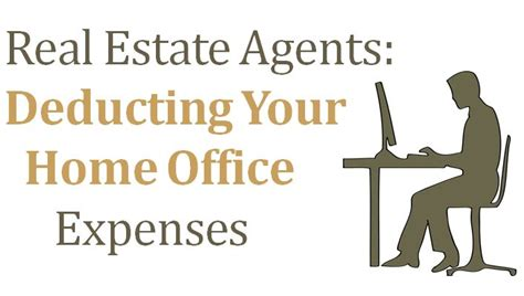 real estate agents can you deduct your home office