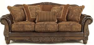 Ashley Furniture Office Furniture by Fresco Durablend Antique Sofa From Ashley 6310038