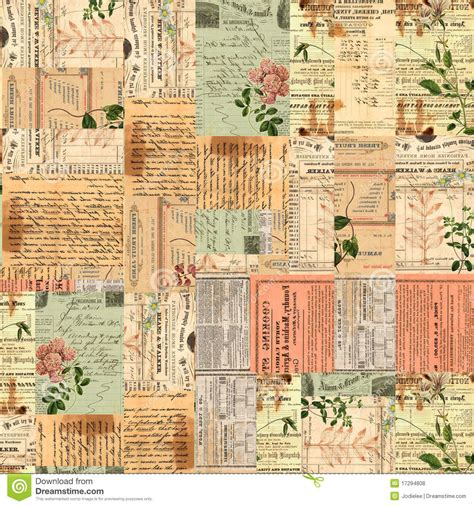 tumblr themes vintage scrapbook free vintage paper ephemera text and flowers collage