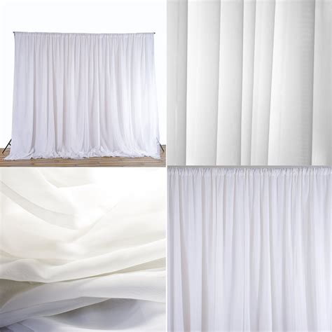 silk sheer curtains white sheer silk drapes panels hanging curtains backdrop