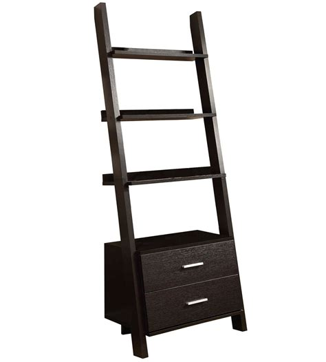 ladder bookcase with drawers ladder bookcase with storage drawers in bookcases