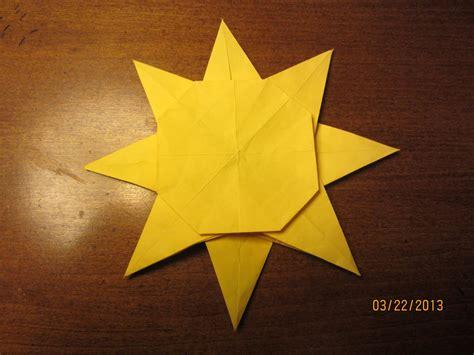 Sun Origami - daily origami 43 da sun by naganeboshni on deviantart