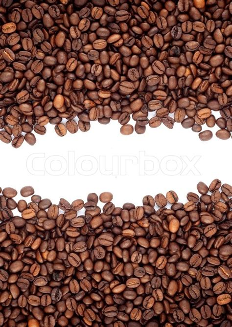 Papa Bean White Coffee brown roasted coffee beans isolated on white background