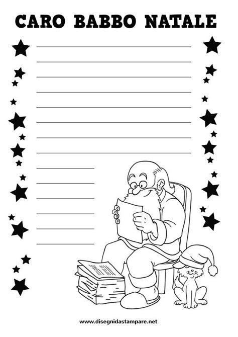 lettere a babbo natale da stare e colorare oltre 25 fantastiche idee su lettera a babbo natale su