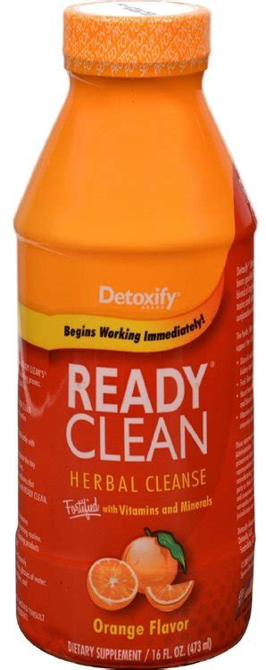 Ready Flush Detox by Ready Clean Herbal Cleanse Orange Flavor By