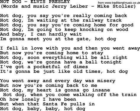puppy lyrics by elvis lyrics