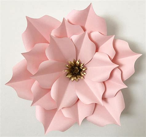 How To Make Paper Flower Petals - pdf petal 5 paper flower template digital version original