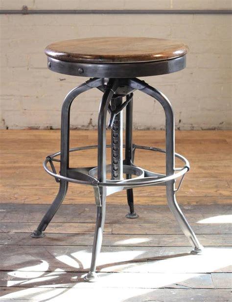 vintage wood and metal bar stools original vintage industrial toledo backless wood and metal