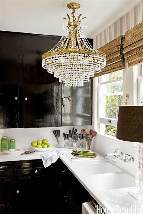 Kitchen With Chandelier Cococozy Cococozy Exclusive House Beautiful Preview Of Designer Tobi Tobin S Home