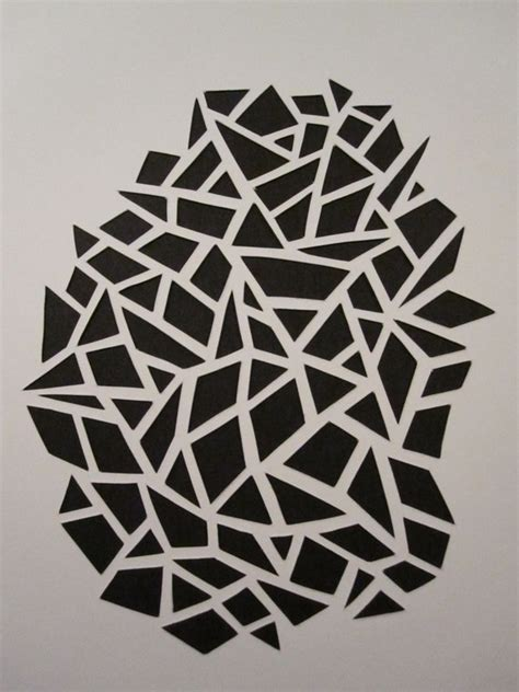 simple pattern cutting paper cut out art using paper to create sculpture like