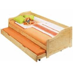 lits bois bois 90 x 190 cm lit gigogne louis achat