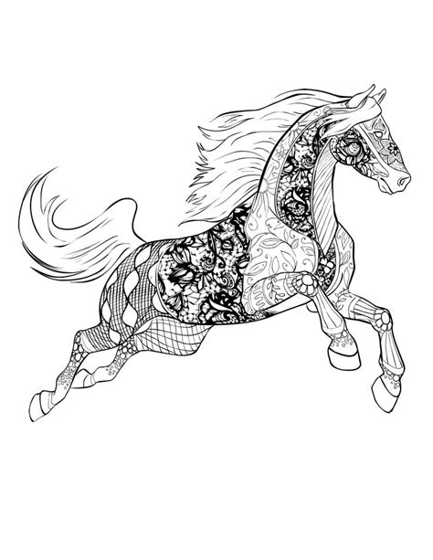 horse coloring pages for adults horse free download selah works adult colouring