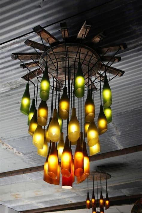kronleuchter befestigen diy le aus weinflaschen kreative dekoideen