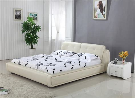 bed designs aliexpress com buy high back cream top grain leather