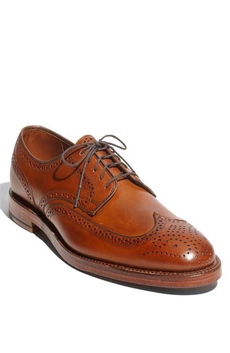 oxford wingtip shoes allen edmonds players wingtip oxford in brown for