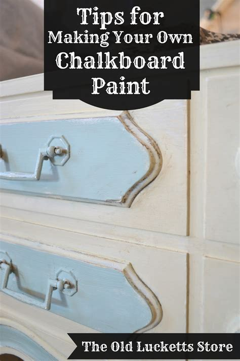 tips for and mixing your own chalkboard paint the