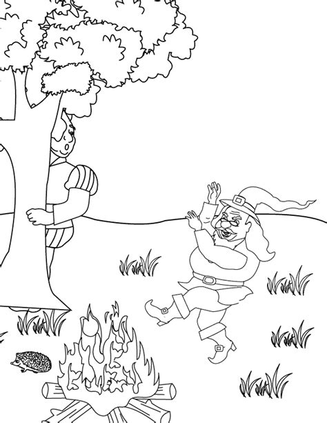 coloring pages rumpelstiltskin dancing around the fire