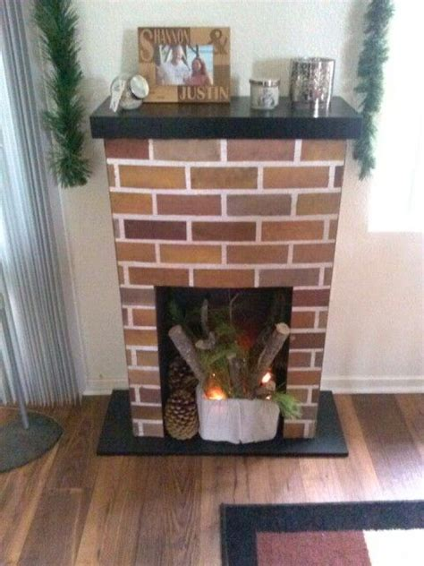 diy faux fireplace out of cardboard decorating