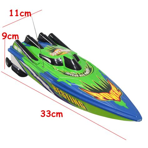 toy boat racing videos red green plastic durable remote control twin motor high