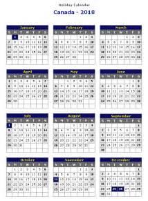 Calendar Year 2018 Canada 2018 Calendar Canada Weekly Calendar Template