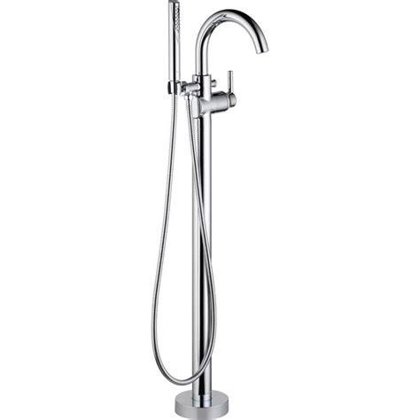 handheld faucet for bathtub delta lahara 2 handle deck mount roman tub faucet with hand shower trim kit only in