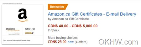 Where To Get Amazon Gift Cards Canada - buy a 50 amazon gift card and get 10 credit okhw com