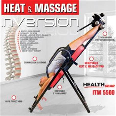 inversion table with heat and amazon com health gear advanced inversion technology