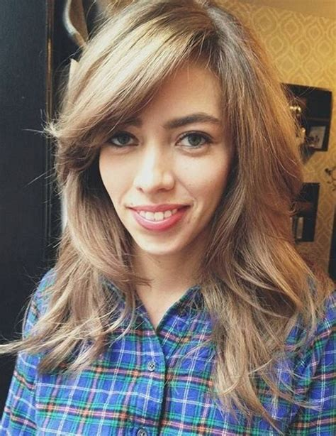pictures of long hair withlight bangs layered and feathered back on top 70 brightest medium length layered haircuts and hairstyles