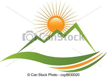 clipart montagna clipart vecteur de montagne ensoleill 233 logo ecologycal