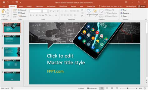 Free Smartphone Powerpoint Templates Android Powerpoint Template