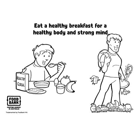 healthy body page coloring pages