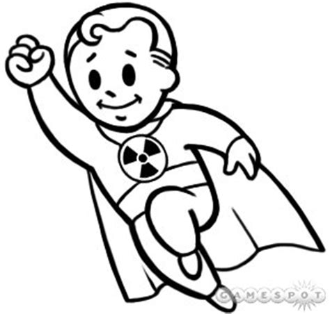 vault boy coloring page fallout 4 coloring pages