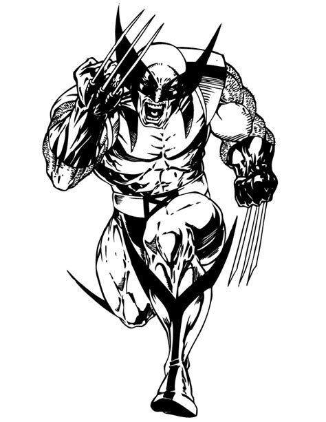free wolverine coloring pages to print coloringstar