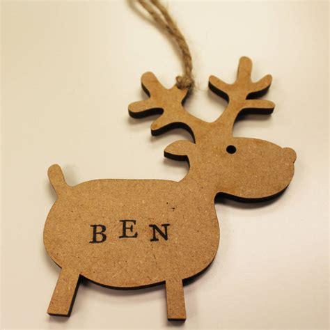 Handmade Reindeer - personalised handmade reindeer ornament by all