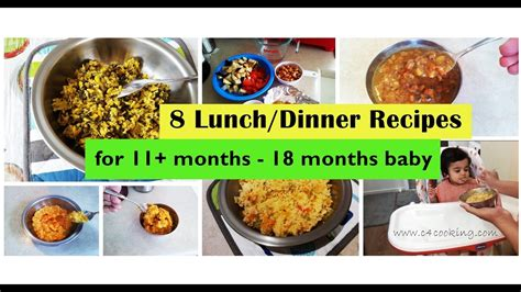 dinner recipes for 8 8 lunch dinner recipes for 11 months 18 months baby