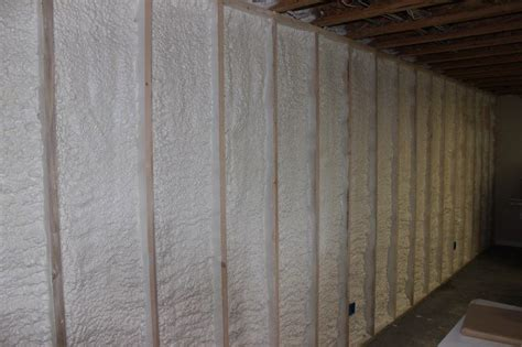 spray foam insulation basement walls insulate a basement wall with closed cell spray foam st