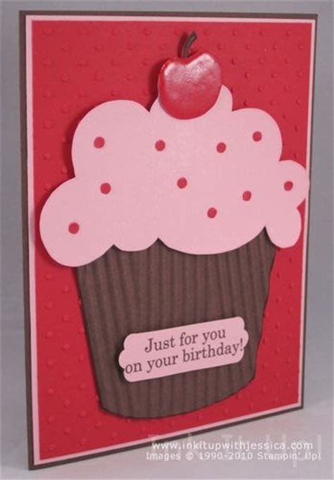 simple birthday cards to make simple birthday thanks cupcake ink it up with