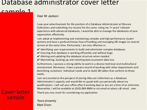 oracle dba cover letters – 50+ Best templates