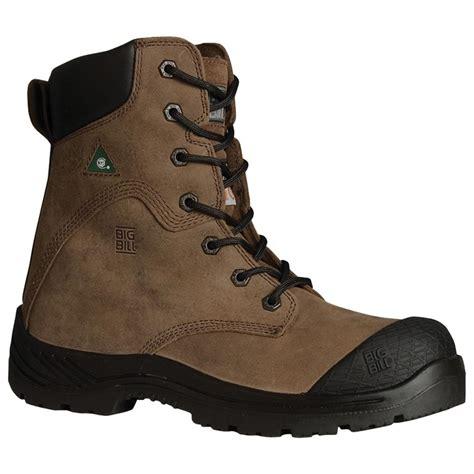 big mens boots big bill 174 s 8 quot steel toe work boot brown 162921