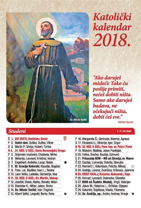 Kalendar S Blagdanima 2018 13 Lisni Katolički Kalendar Za 2018 Godinu Vizual Br 2