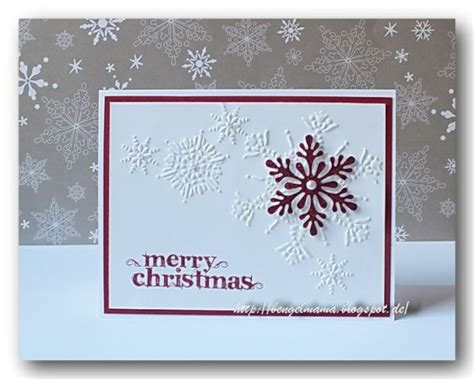 how to make a snowflake card handmade card clean and simple look