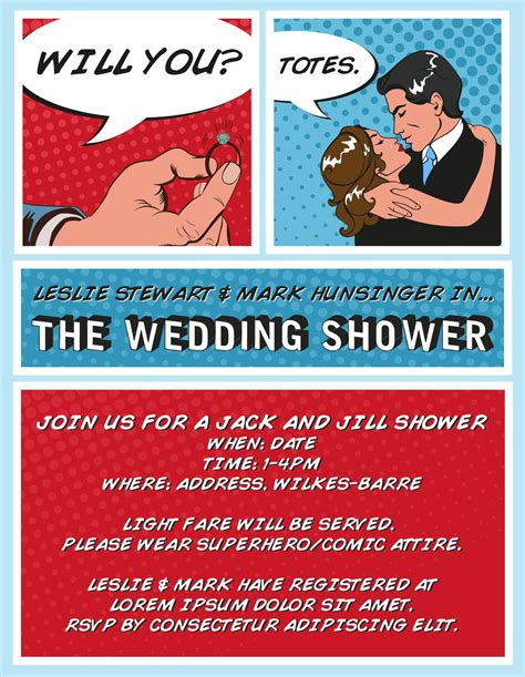 Red And White Wedding Invitations The Superhero Shower I M Styling My Wedding Shower Straight Out Of A Comic Book Darling Stewie