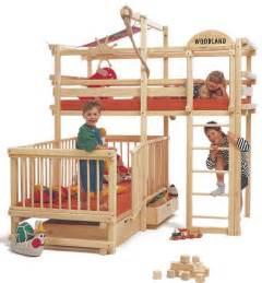 Wood play bunk beds1